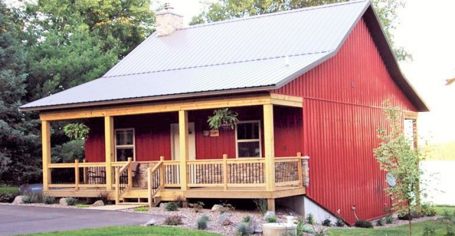 Metal Barn Style Home With a Great Front Porch for $12,000 to 20,000