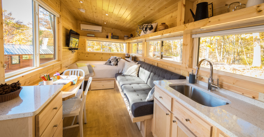 Vista Boho Tiny House: Modern, Luxurious, Easy to Tow, and Affordable Tiny House on Wheels with Main Floor Sleeping