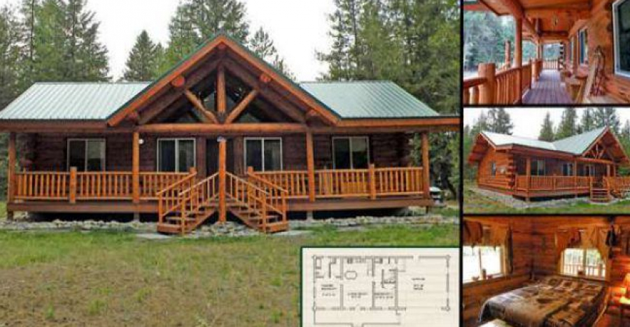 Log Home Kit For $40,000, Take A Look Inside!