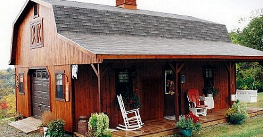 Amish Barn Style Home That Can Be Set Up in Less Than 3 Hours!