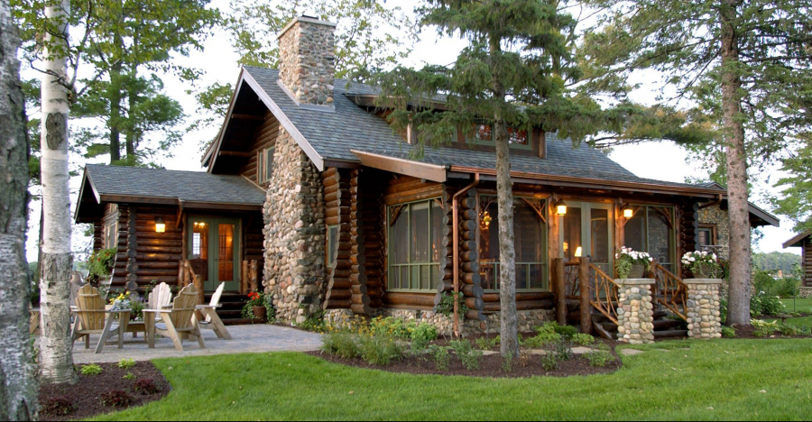 Rustic Lakefront Log Home Retreat, Take A Look Inside!