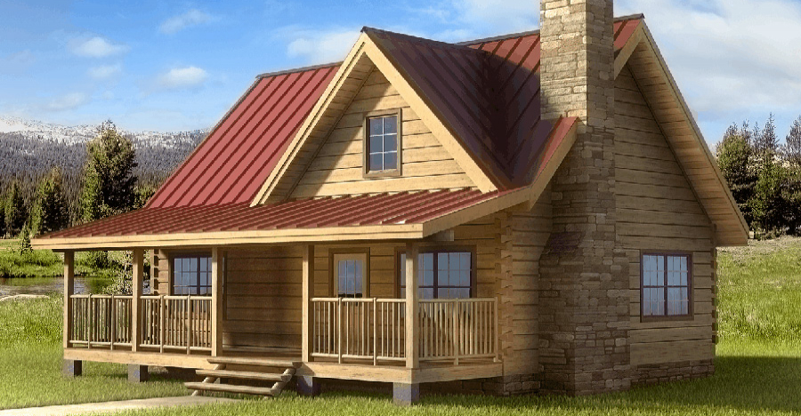 Popular Log Cabin Design With a Great Floor Plan