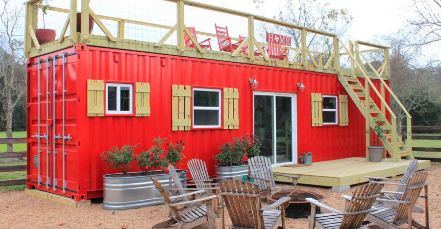 Shipping Container Becomes Fabulous Backyard Tiny Home